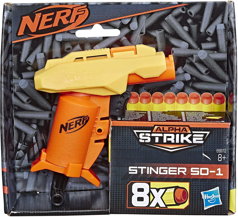 [Prime] Hasbro Stinger SD-1 Nerf Alpha Strike Spielzeug-Blaster -- inklusive acht Nerf Elite Darts
