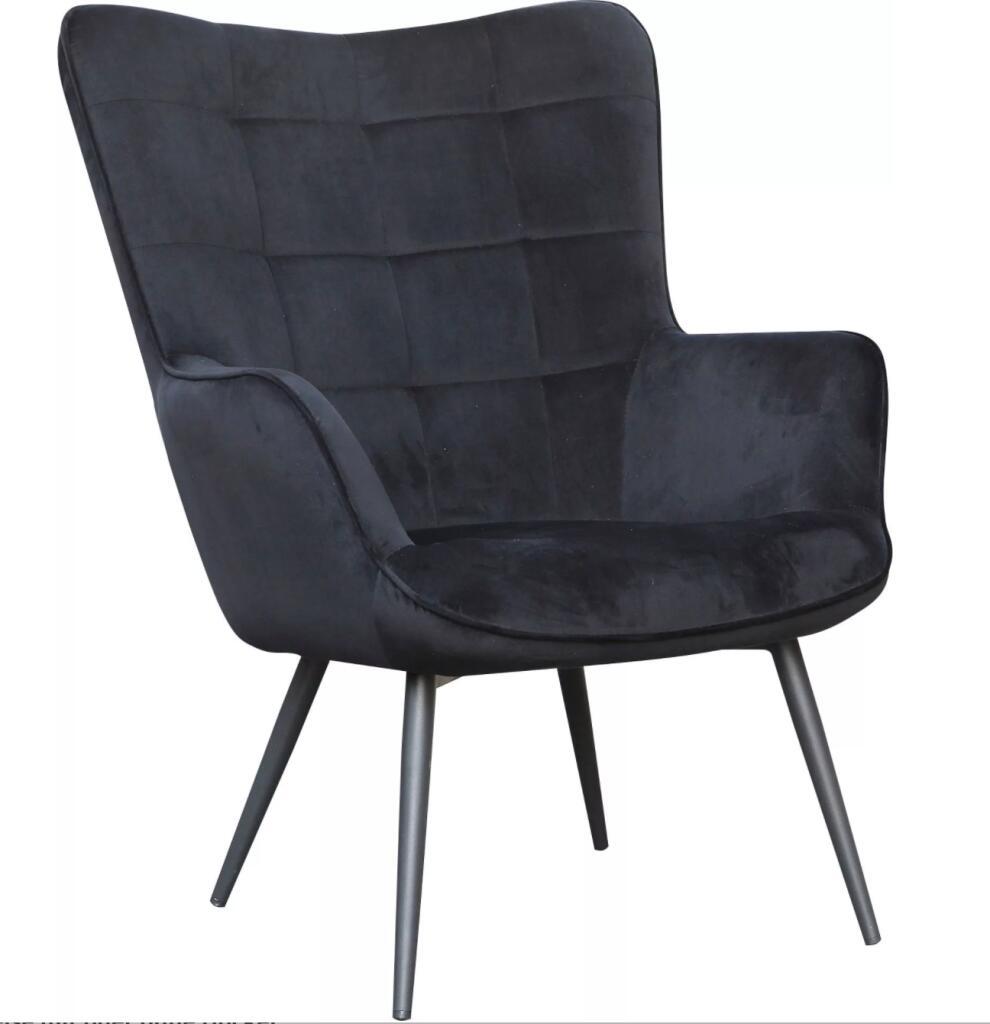 Homexperts Sessel »Ulla« / Samt-Bezug / wahlweise mit oder ohne Hocker