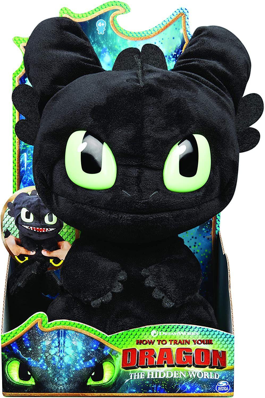 """Dragons 6052481 - Squeeze and Roar"""" - Ohnezahn, 28 cm großer Plüschdrache mit Soundeffekten, für Kinder ab 4 Jahren [Amazon Prime]"""