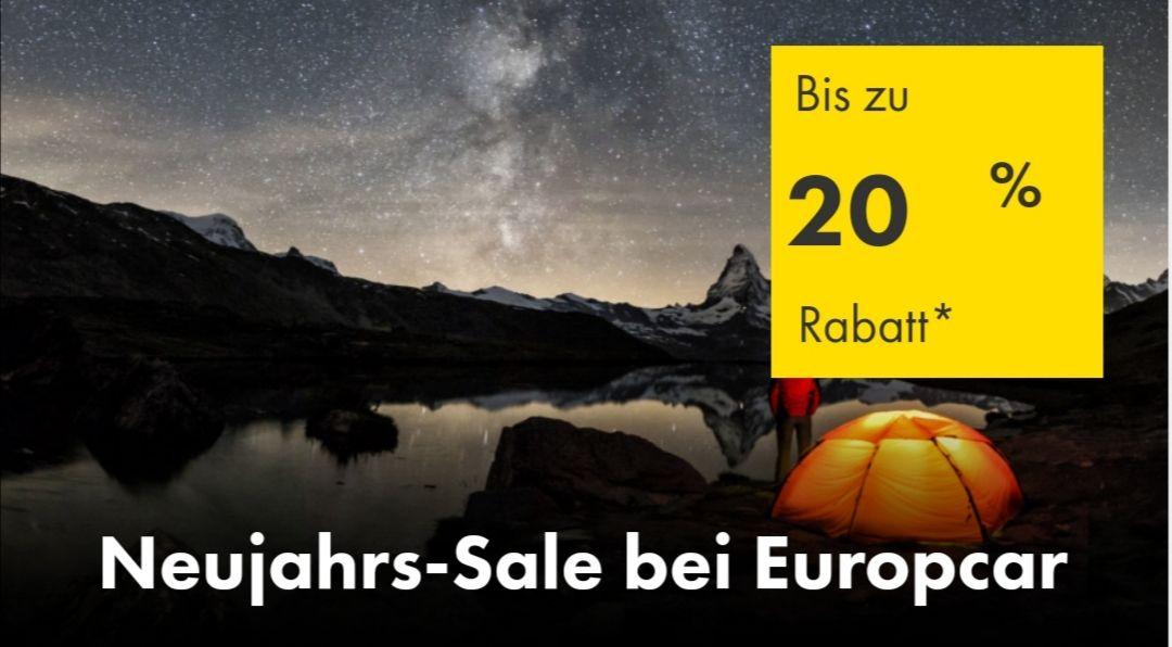 Neujahrs-Sale bei Europcar (Mietwagen)