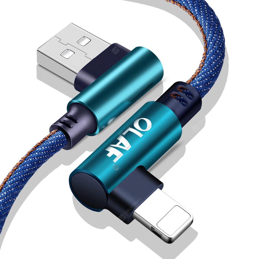 OLAF 5V 2.4A USB Type C, Micro oder IOS 25cm Kabel für 0,82€