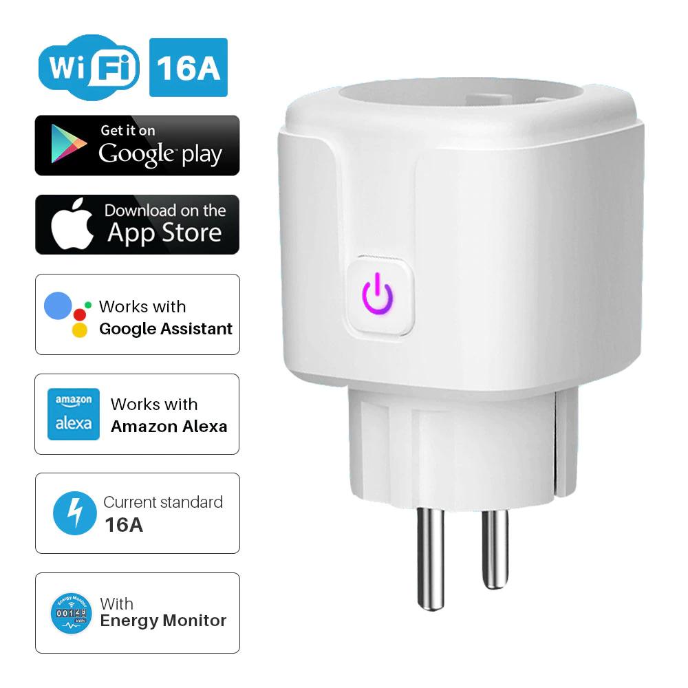 Smart Steckdose mit Strommessfunktion Alexa Smart Life Google Home