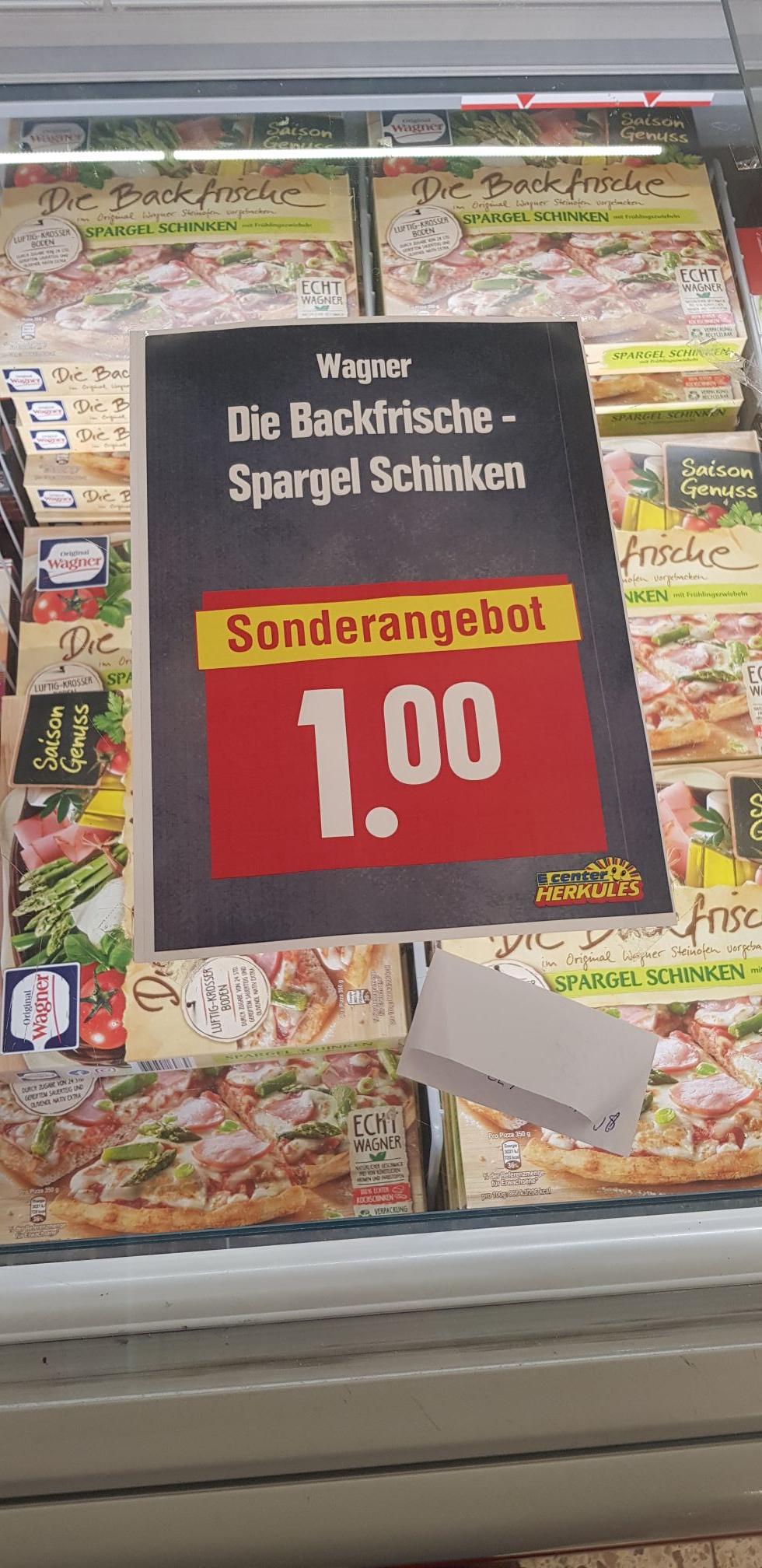 [Lokal] Gießen 2 x Wagner Backfrische Pizza Spargel Schinken mit Coupon für 1€
