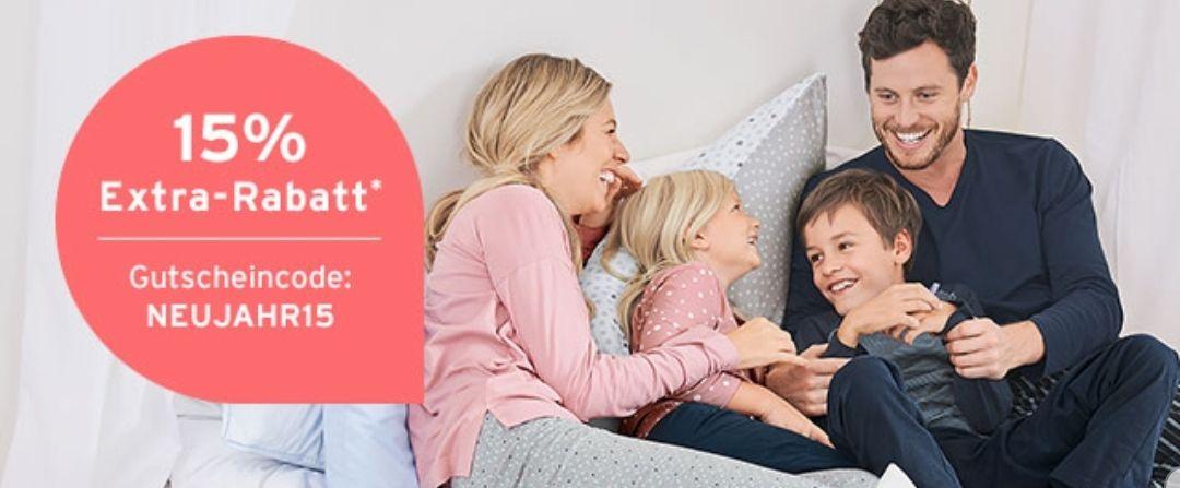 15% Rabatt zusätzlich auf Tag- und Nachtwäsche, ab 20€ versandkostenfrei, Click&Collect ebenso gratis