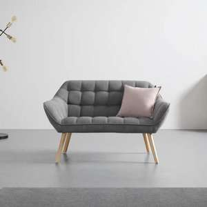 Zweisitzer-Sofa 'Monique' im Retro-Look in 3 Farben für 139,30€ inkl. Versand (Mömax)