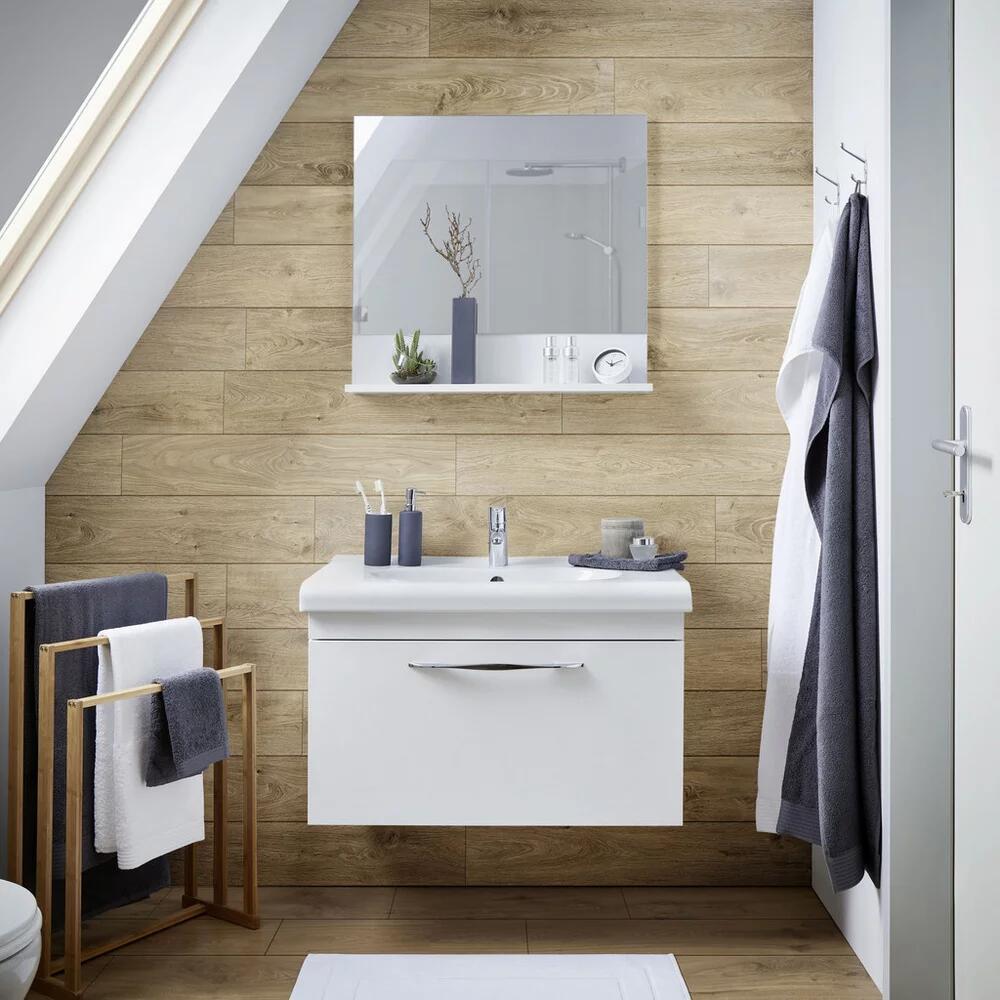 Waschtischkombination in weiß inkl. Spiegel 'Luna'