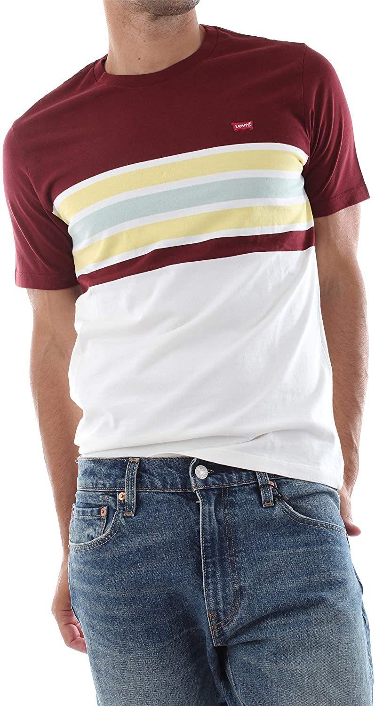 [Amazon Prime / Otto.de] Levi's Herren Ss Original Hm Tee T-Shirt, weiß-dunkelrot