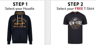 Tokyo Laundry Bundle: 1 Hoodie / Jacke und 1 T-Shirts (Gr. S-XXL) für 22,19€ + 4,43€ Versand