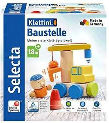 [Amazon Prime][Sammeldeal] Selecta 62075 Klettini, Baustelle, Klett-Stapelspielzeug, 8 Teile, bunt + weitere