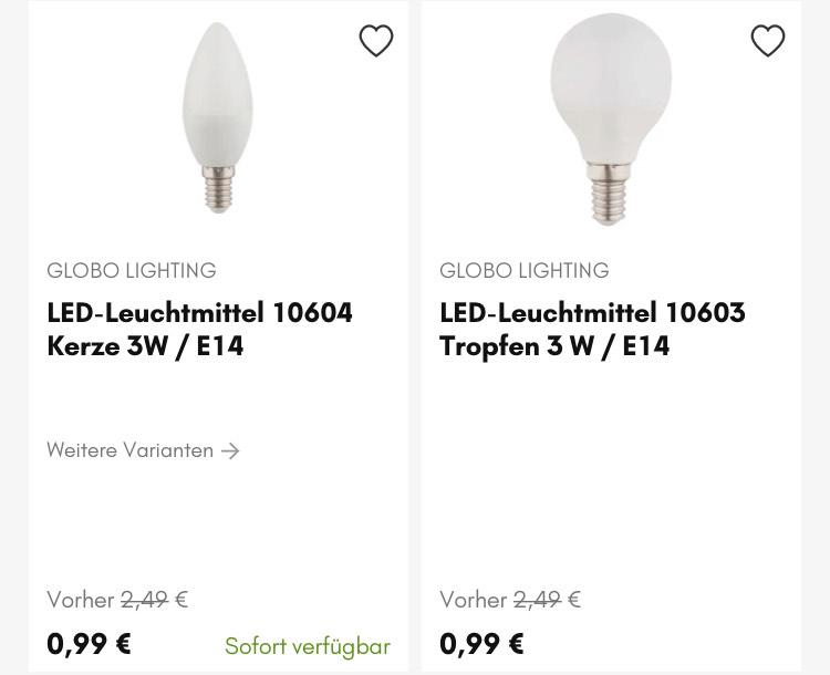 Hardeck LED Leuchtmittel günstig und ohne Versandkosten