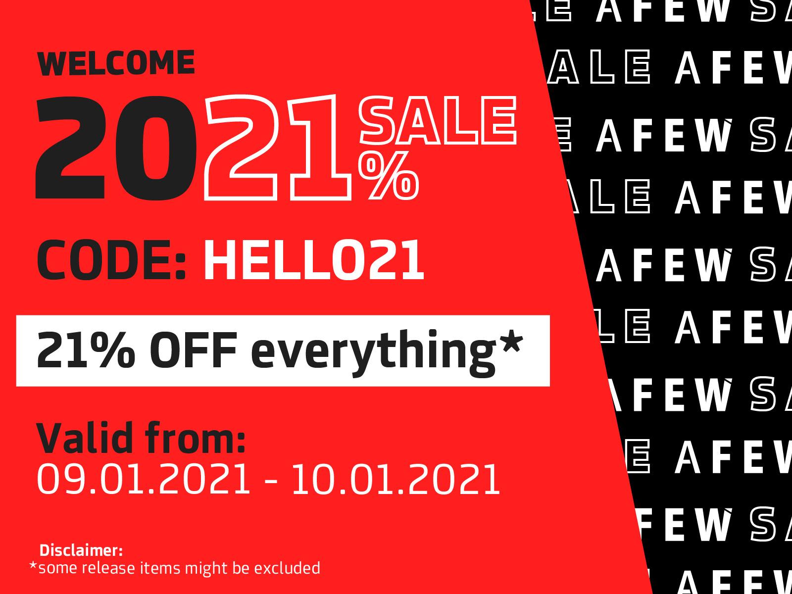 [afew.de] 21% Rabatt auf den gesamten Sale // Sneaker und Streetwear