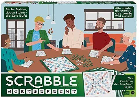 Mattel Games GTJ27 Scrabble Wortgefecht KreuzworträtselBrettspiel für Spieler und Spielerinnen ab 10 Jahren [Prime]