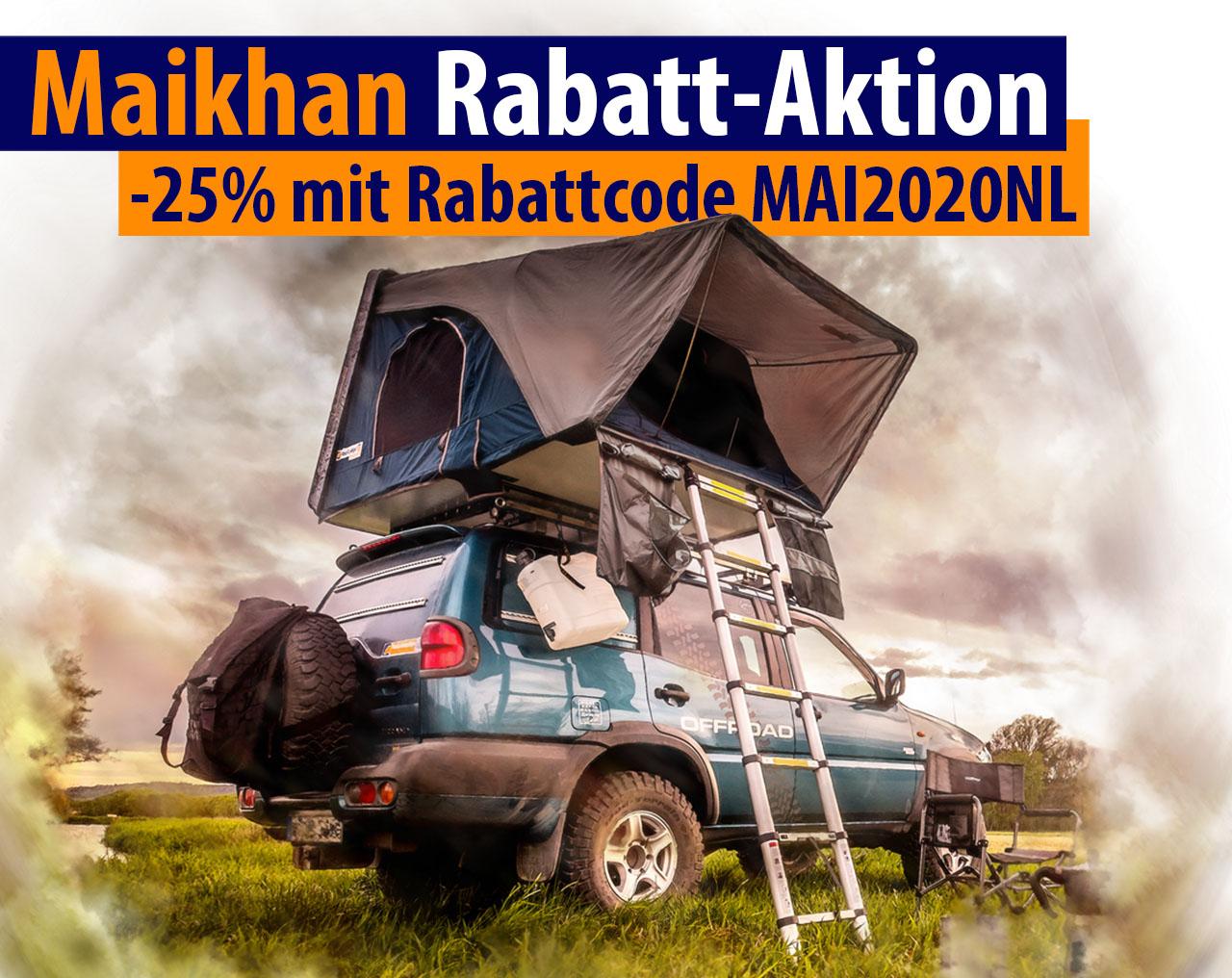 Hybrid Hartschalen Dachzelt Roof Lodge Maikhan 140
