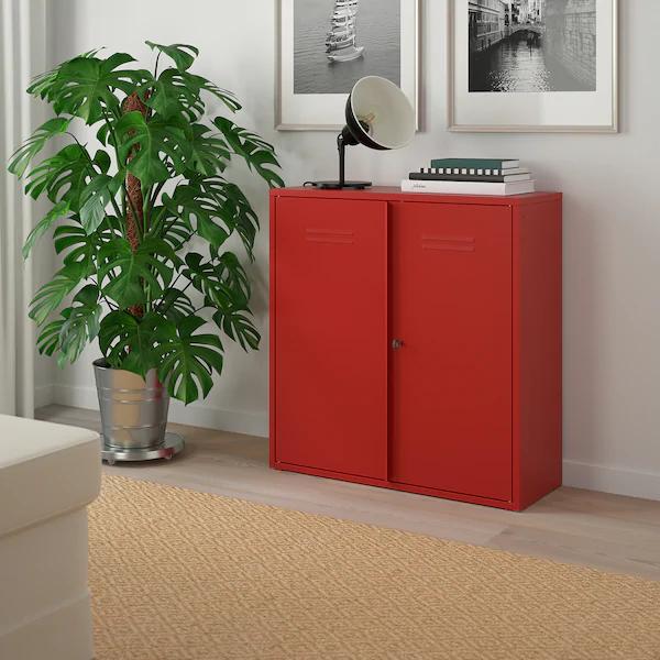 IVAR verschließbarer Schrank aus pulverbeschichtetem Stahl für 59,89€ inkl. Versand B 80 x H 83 x T 30