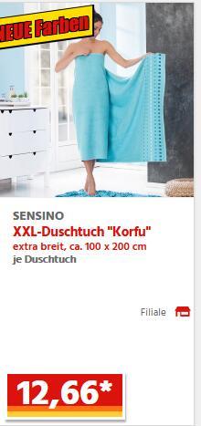NORMA Lebensmitteldiscounter Duschtuch XXL 100x200 cm 12,66 €