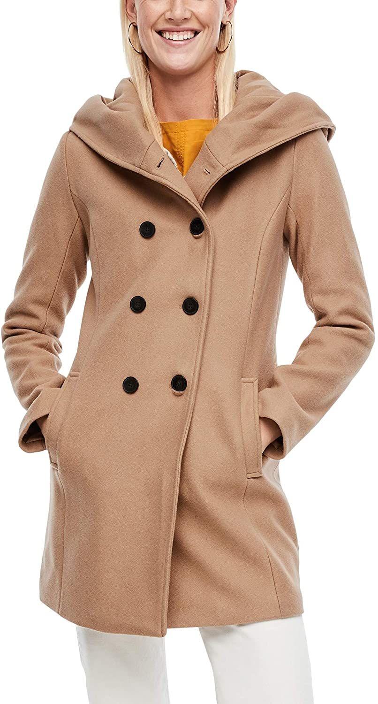 s.Oliver Damen Melierter Mantel aus Wollmix [34-46) [Amazon]