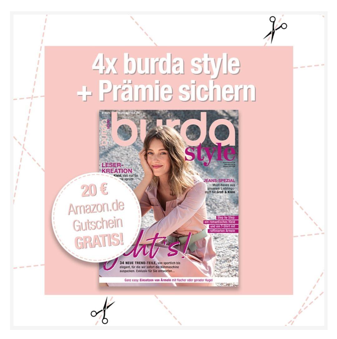 [Burda Style Abo] Schnittmuster Fashion DIY 4x Ausgaben für 28,40€ inkl. 20€ Amazon