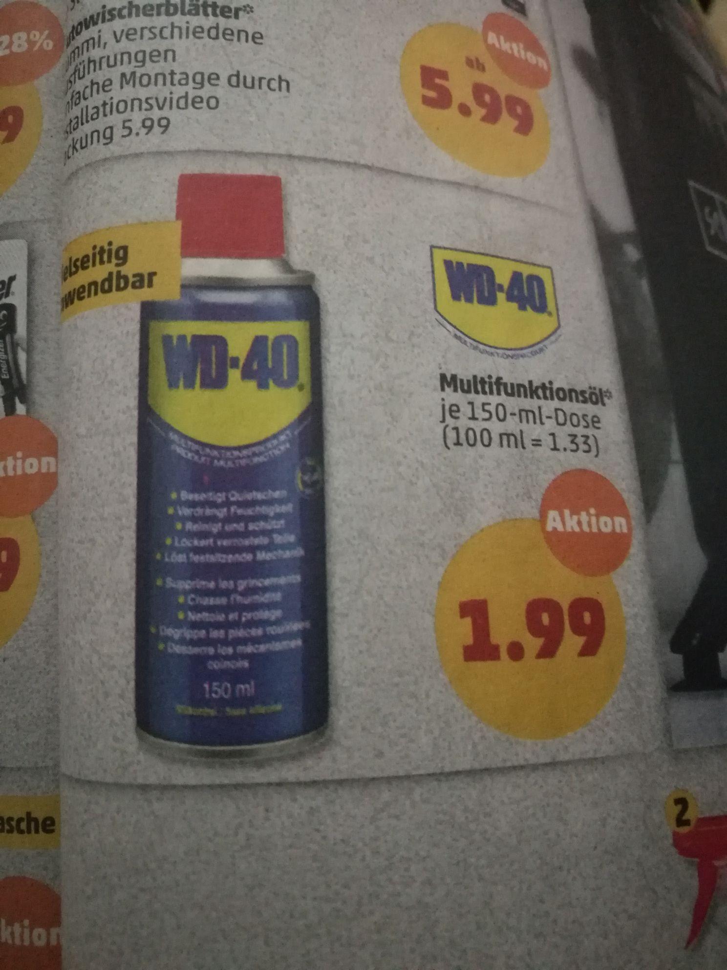 WD-40 150ml Penny Markt ab 14.1 für 1,99€