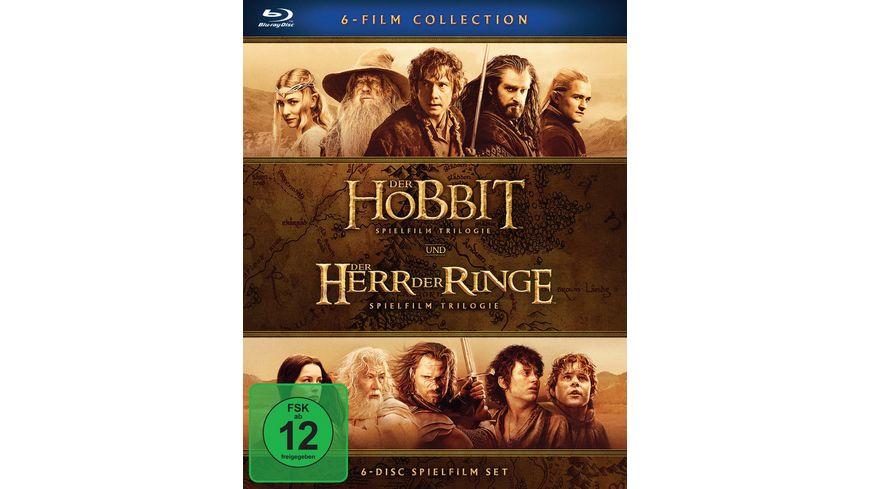 [Müller] Mittelerde Collection: Hobbit + Herr der Ringe Trilogien (Blu-ray) für 23.79 €