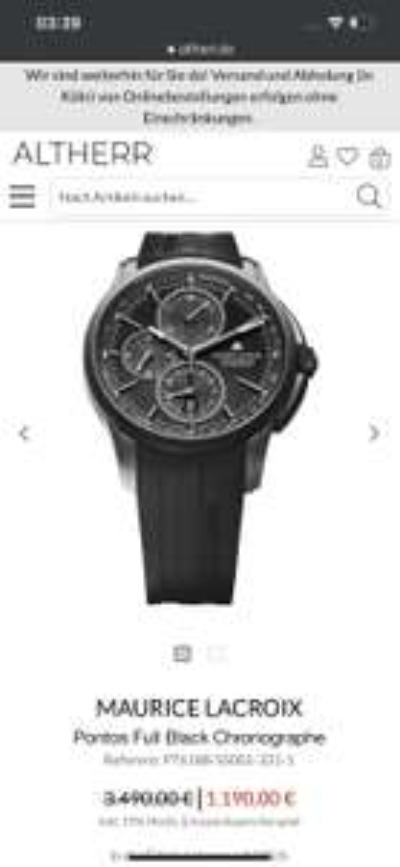 Maurice lacroix Pontos Full black chronograph