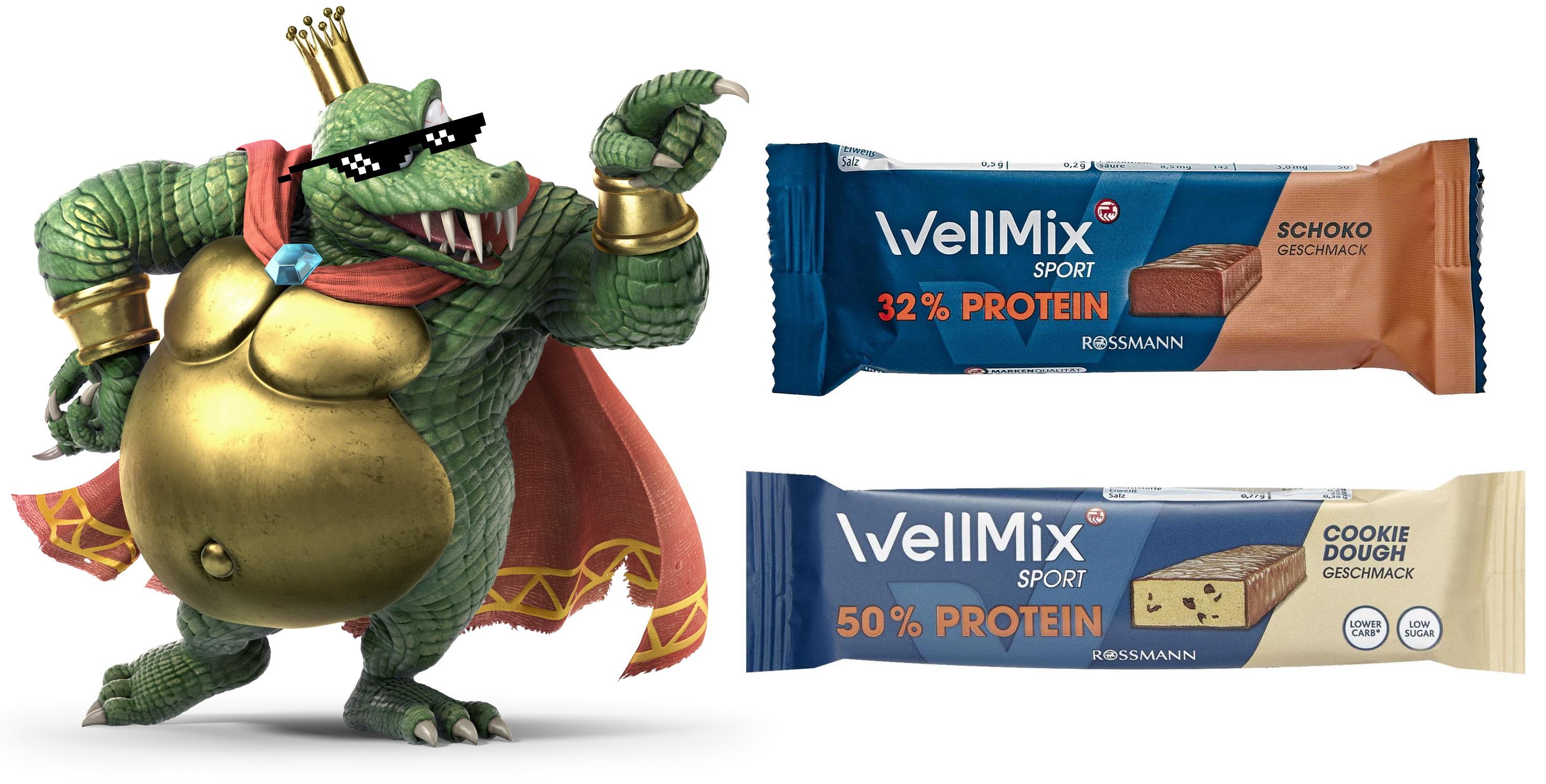 Pumpermarkt [02/21]: z.B. 50g WellMix Sport 32% Proteinriegel für 0,35€ oder 50%-Riegel für 0,80€ bei Rossmann (per 10% App-Coupon)