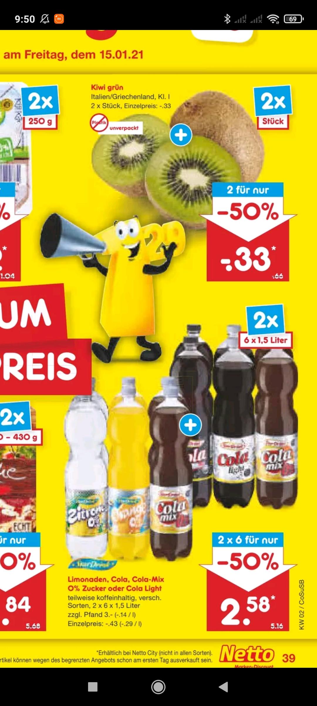 Netto: Star Drink 1,5l Flaschen Limonaden, Cola incl. Zero (12 Stück für 2,58€+Pfand) (0,22€ pro Flasche)