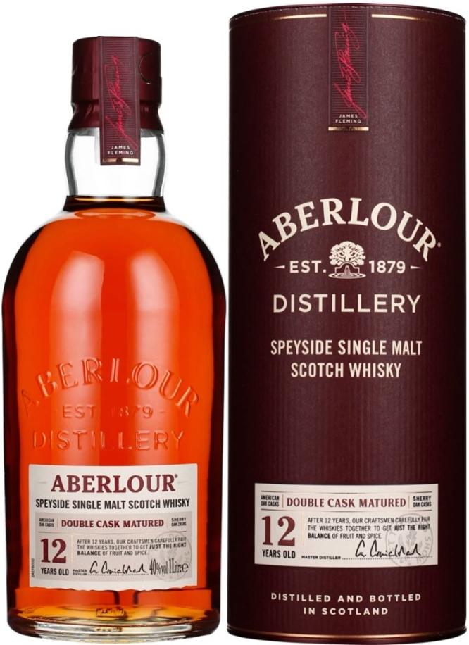 Whisky-Übersicht #66: z.B. Aberlour 12 Jahre Double Cask Matured Speyside Single Malt Scotch Whisky 40% vol. (1 l) für 37,40€ inkl. Versand