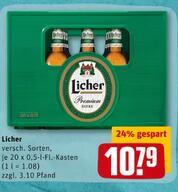 REWE Hessen Licher versch. Sorten 20x0,5l 10,79€ zzgl. Pfand