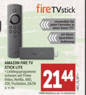 [Regional Marktkauf-Lübben] Fire TV STick Lite für 19,30€ oder Hisense H65BE7000 165 cm (65 Zoll) Fernseher (4K Ultra HD) für 420,23€