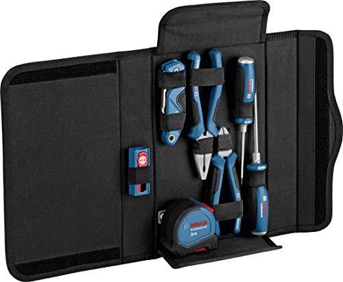 Bosch Professional 16 tlg. Profi Werkzeug Set (inkl. Zangen, Schraubendreher, Universal Klappmesser, Maßband & Zubehör)
