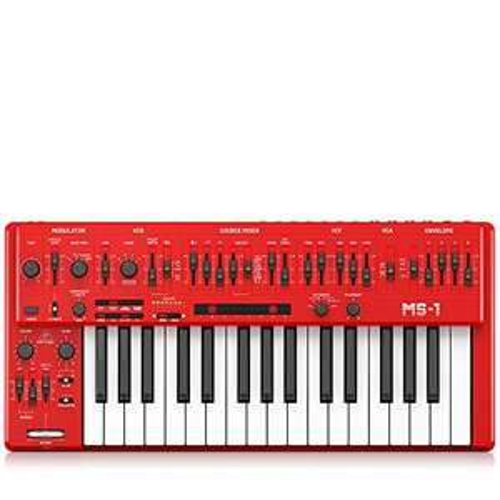 Behringer MS-1 (MS-1-RD) monophoner Analog-Synthesizer, Klon des Roland SH-101 [Musikinstrumente]
