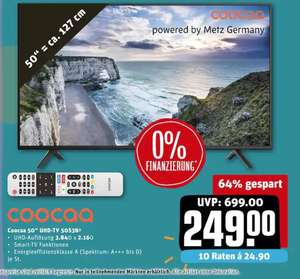 [REWE-Center Offline] Coocaa 50S3N UHD Smart-TV 50""