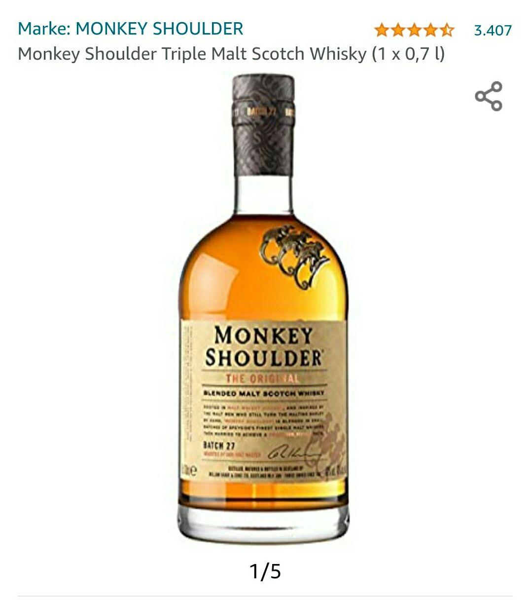 (AMAZON PRIME) Monkey Shoulder Whisky und Glenfiddich 12 0,7l im Spar-Abo (Personalisiert)
