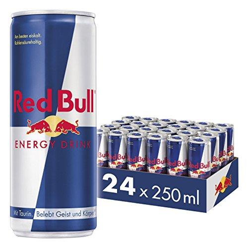 [prime Sparabo] Red Bull Energy Drink Dosen Getränke 24er Palette, EINWEG (24 x 250 ml)