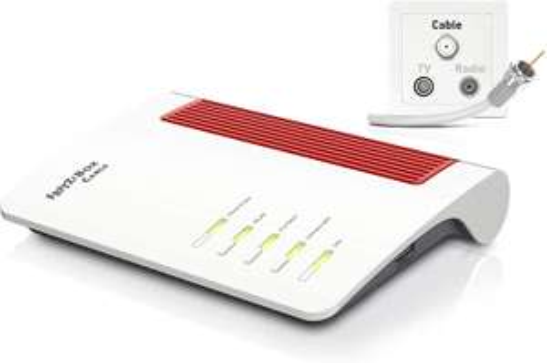 AVM FRITZ!Box 6660 Cable (DOCSIS-3.1-Kabelmodem, 2x2 WLAN AX (Wi-Fi 6) mit 2.400 MBit/s (5 GHz) und 600 MBit/s (2,4 GHz)) [NBB]