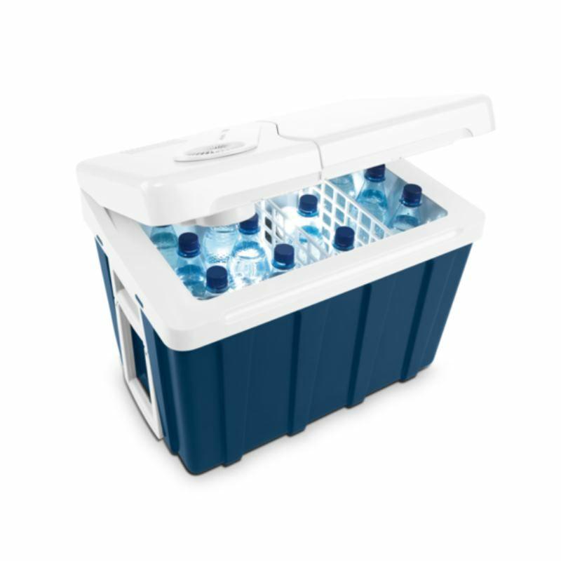 Mobicool MQ40W AC/DC - Thermo-Elektrische Kühlbox mit Rollen, 39 Liter, 12 V und 230 V für Auto, Lkw und Steckdose, A++