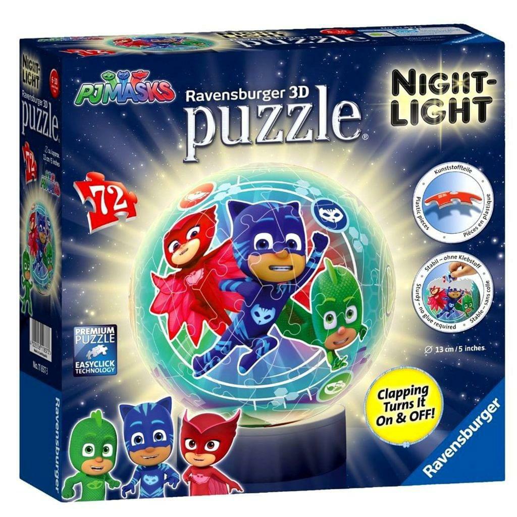 [ebay.de] Ravensburger Puzzle Ball 3D Lampe, PJ Masks, 72 Teile,
