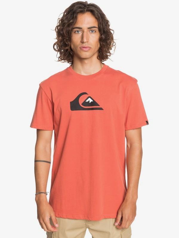 10% + 10% Rabatt zusätzlich auf Sale + gratis Versand bei Quiksilver, Roxy und DC Shoes, z.B. 'Comp Logo' T-Shirt für Männer