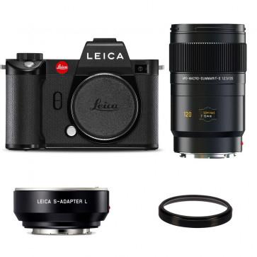 Leica SL2 Systemkamera + Apo-Makro-Summarit-S 120mm F2,5 Objektiv + S-Adapter L