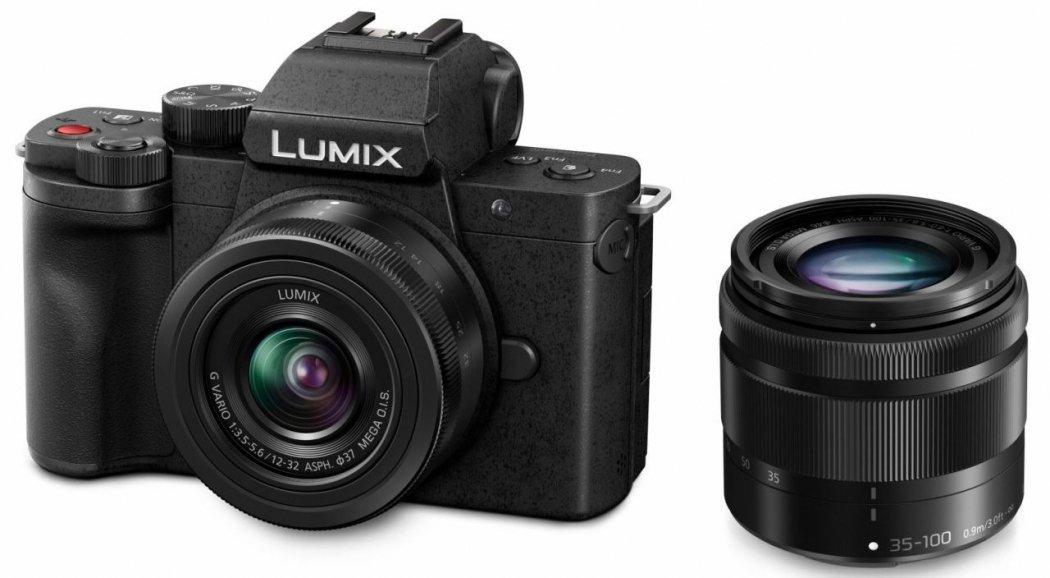 Panasonic Lumix DC-G110 Systemkamera + 12-32mm F3.5-5.6 + 35-100mm F4-5.6 Kit (exkl. 50€ Cashback = 699€)