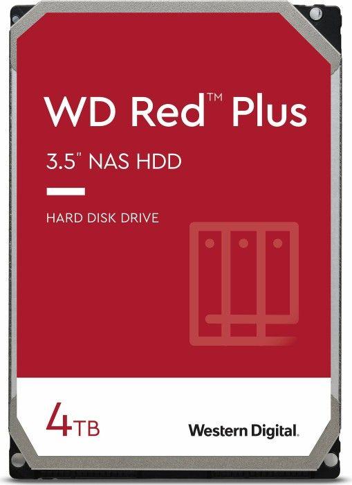 """Western Digital WD Red Plus 4TB (NAS HDD, 3.5"""", SATA, CMR, WD40EFRX)"""