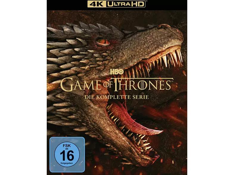 Game of Thrones - Die komplette Serie 4K Ultra HD Blu-ray (33 Discs) für 112,54€ inkl. Versandkosten