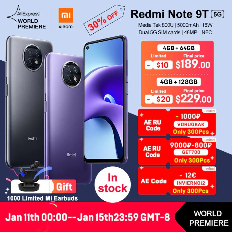 Redmi Note 9T 5G [4GB/64GB oder 4GB/128GB]