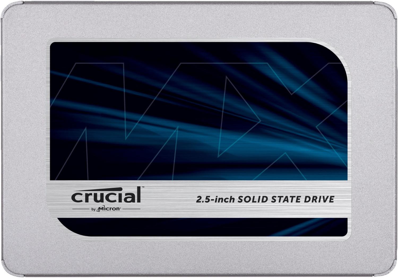 Crucial MX500 2TB SSD (SATA, 3D-NAND TLC, SM2258, 2GB Cache, ~550MB/s Lesen, ~470MB/s Schreiben, 700TBW, 5J Garantie)