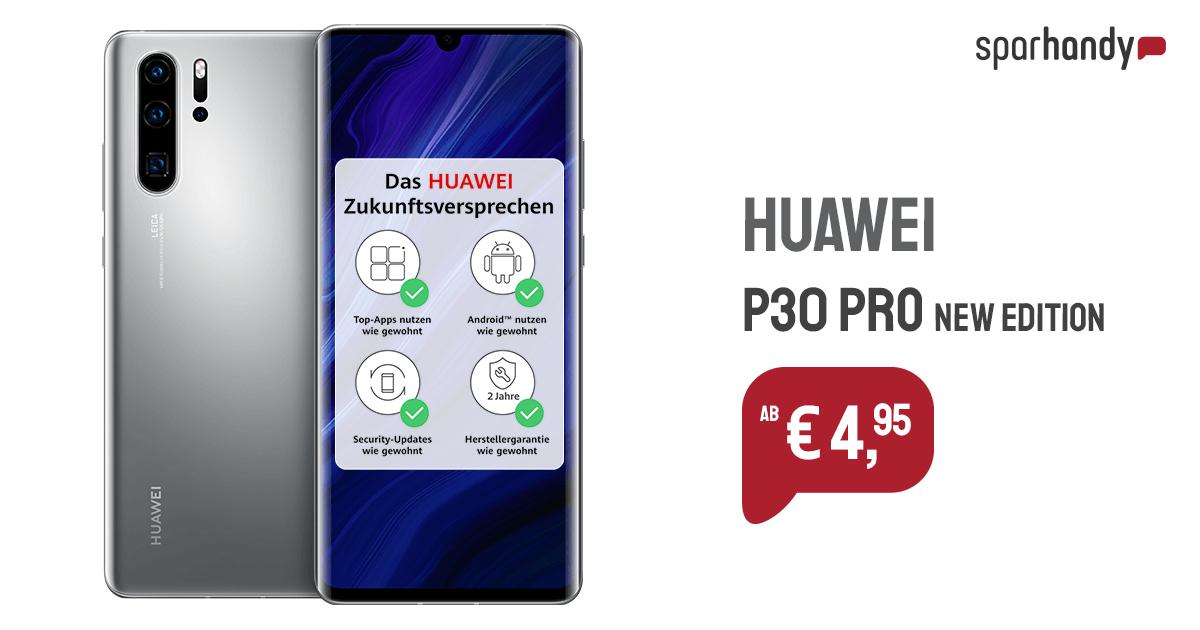 Huawei P30 Pro New Edition + Huawei Freebuds 3 + Booklet Cover für 4,95€ einmalig und 29,99€ monatlich im O2 Free M 20GB LTE Max