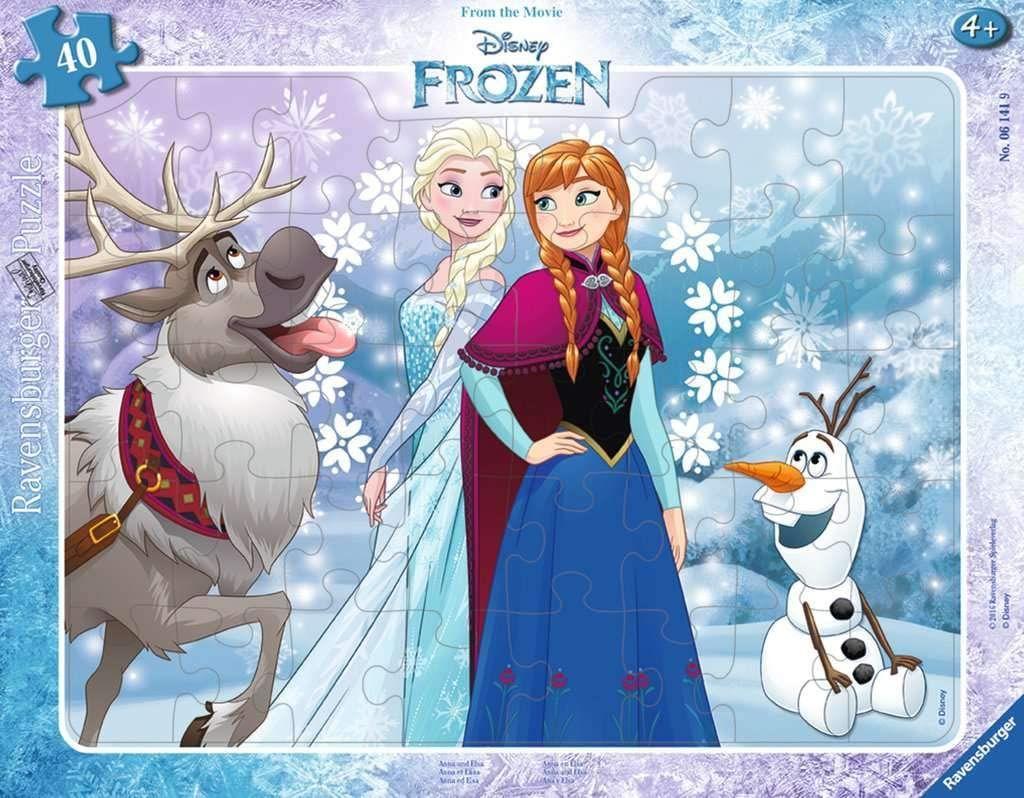 Ravensburger Kinderpuzzle 06141 - Anna und Elsa - Rahmenpuzzle [Prime & Thalia]