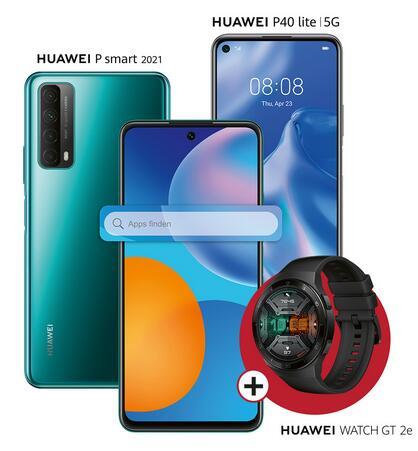 Huawei P Smart 2021 + Watch GT 2e für 179,90€ oder Huawei P40 Lite 5G + Watch GT 2e für 249,90€ (PVG 345,65€) [beide ohne Google]