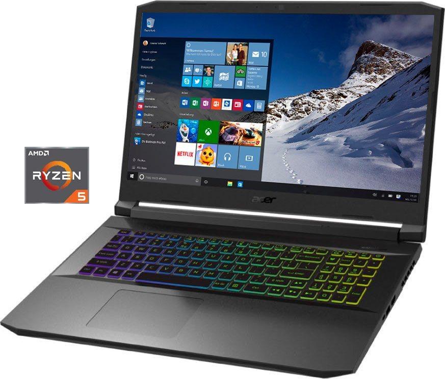 Acer AN517- 41-R77U Notebook (43,94 cm/17,3 Zoll, AMD Ryzen 5, GeForce RTX 3060, 512 GB SSD)