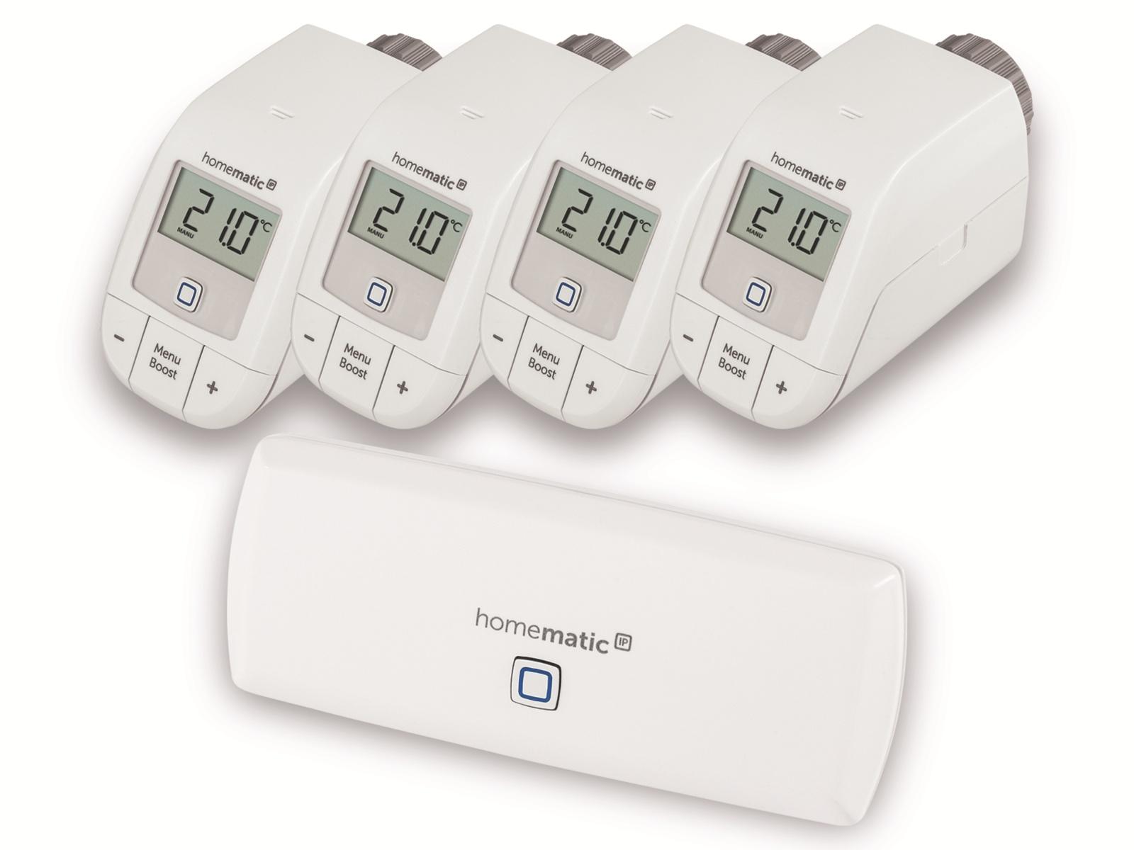 [Pollin] Homematic IP Set Heizen: 4x Basic-Thermostat + WLAN-AP