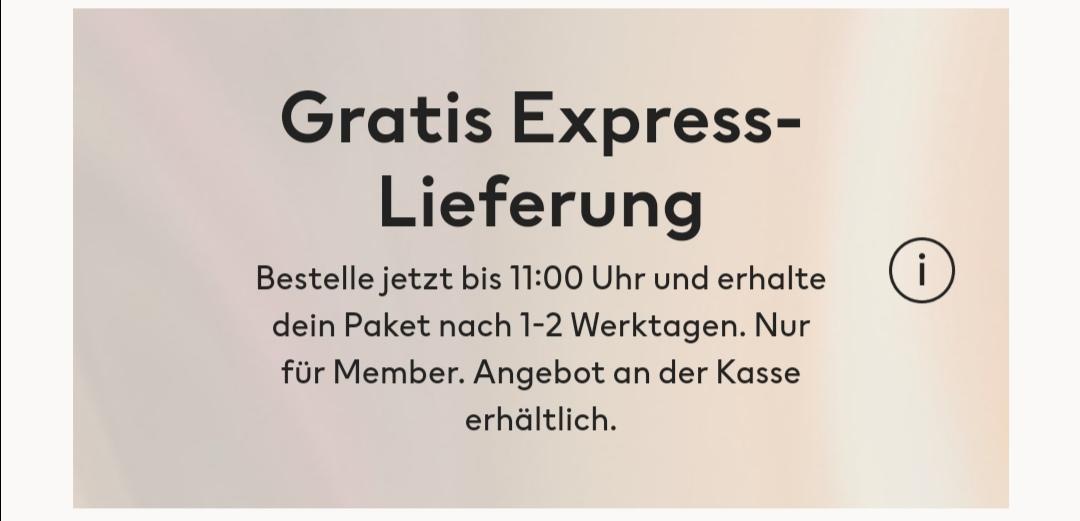 Kostenlose Express Lieferung für H&M Member